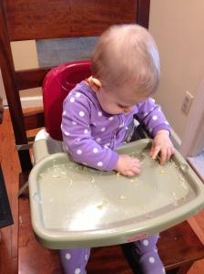 Olivia uses her Pincer Grasp!